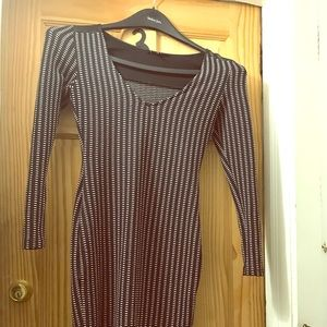 Mad Rag Black and White stretch knit dress